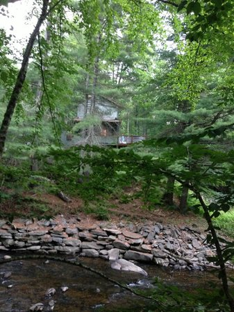 Sylvania Country Lodging: View of our cabin from across the stream
