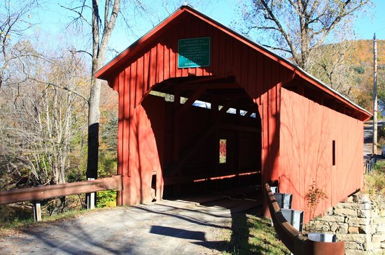Slaughterhouse Covered Bridge: West side