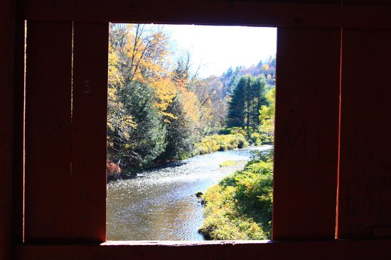 Slaughterhouse Covered Bridge: Window view