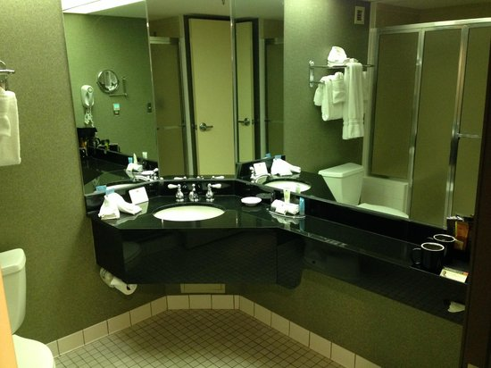 Crowne Plaza Auburn Hills : Bathroom view from door