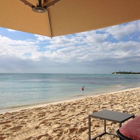 Paradisus Playa Del Carmen La Esmeralda: Ahhh.....this is the life!  Our waitress on the beach was amazing!
