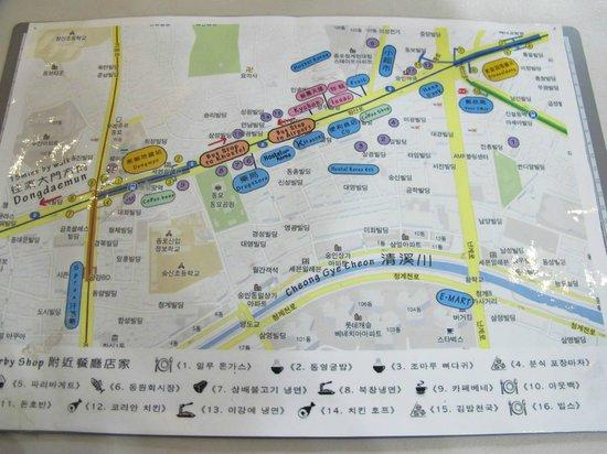K Hostel : 周邊地圖