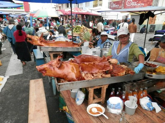 Otavalo Market: Food section