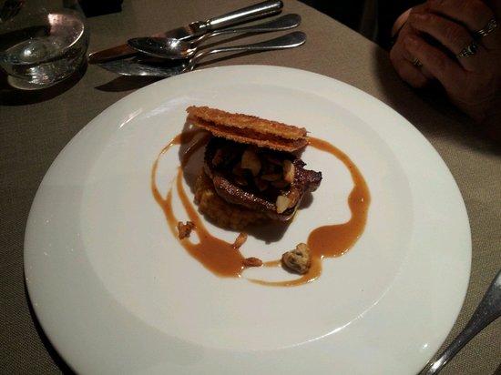Hôtel Restaurant La Rochette: foie gras poêlé