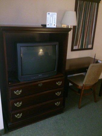 Stratton Inn: TV and desk area