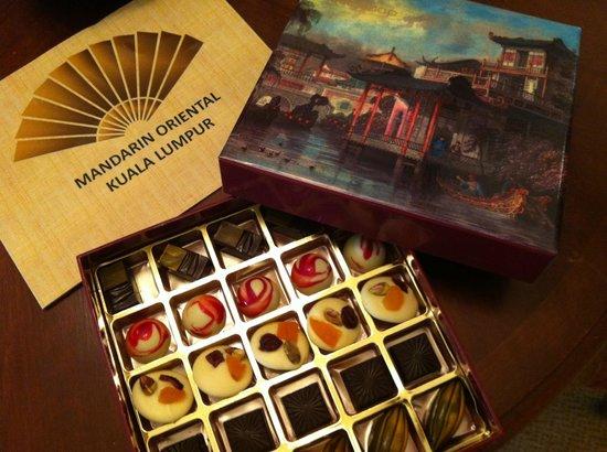 Mandarin Oriental, Kuala Lumpur: Mandarin Oriental Kuala Lumpur - Complimentary Chocolates from The Mandarin Cake Shop