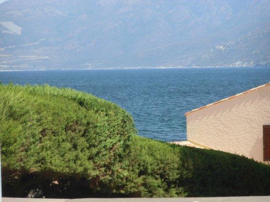 Camping D'Olzo : Panorama dalla strada principale su cui si trova l'ingresso.