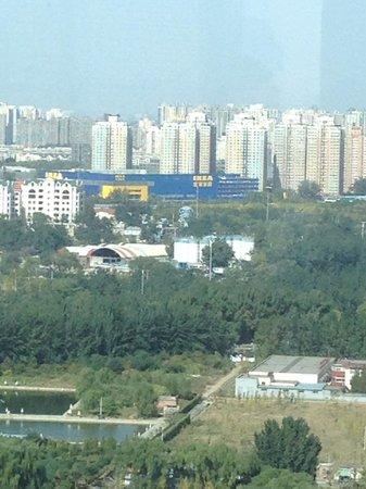 Beijing Marriott Hotel Northeast: View from Business Lounge