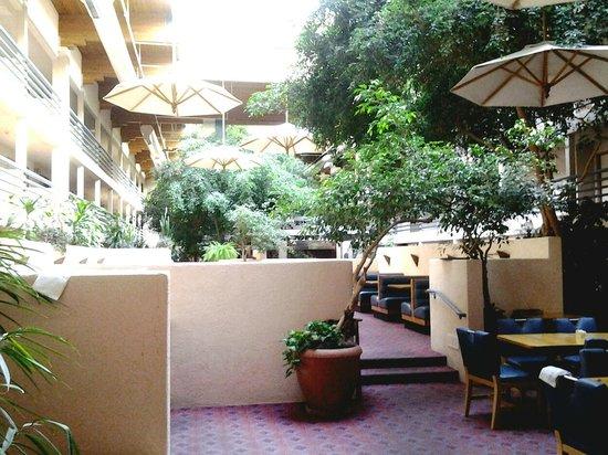 Canyon Plaza Resort : Überdachter Innenhof mit Pool und Gastro