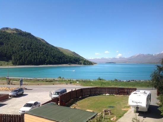 Lake Tekapo Motels & Holiday Park : view from motel room, just above reception area