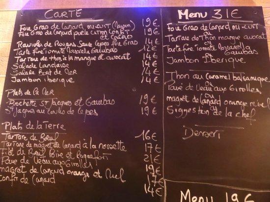 Lou Grilladou : une partie de l'ardoise