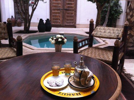 Riad Matham : patio
