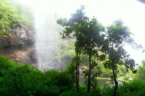 Tamarin Falls: arrière d'une des chutes