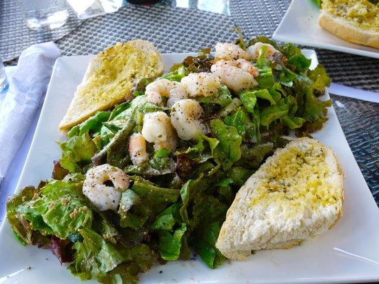 Island Plates: Shrimp Salad with Garlic Bread