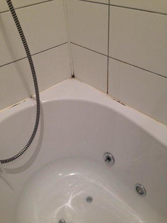 Auberge de la Durdent: Moisissures baignoire