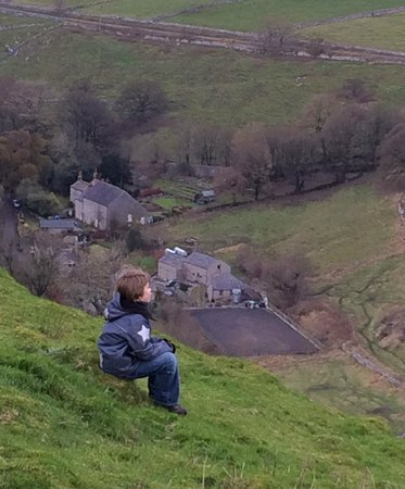Wheeldon Trees Farm Holiday Cottages: View from the hill next door