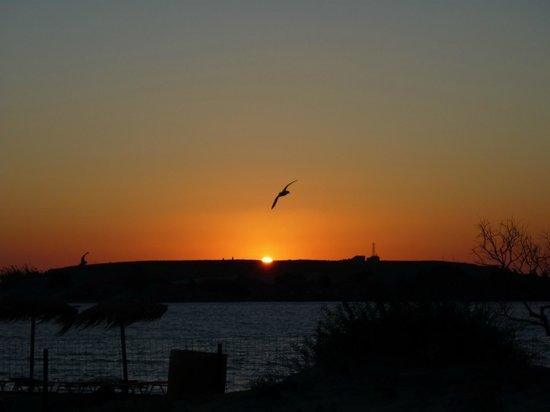 Elafonisi Resort by Kalomirakis Family: coucher de soleil sur Elafonissi vue de la plage