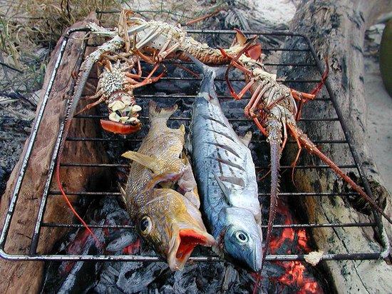 L'aldea: Fischplatte vom Grill