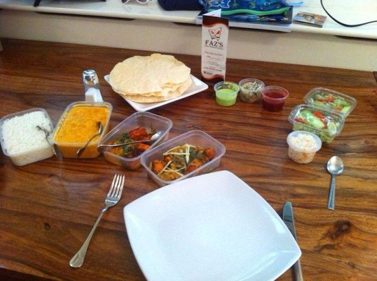 Faz's Fine Indian Dining: This is how your takeaway should look like when you take it home :)