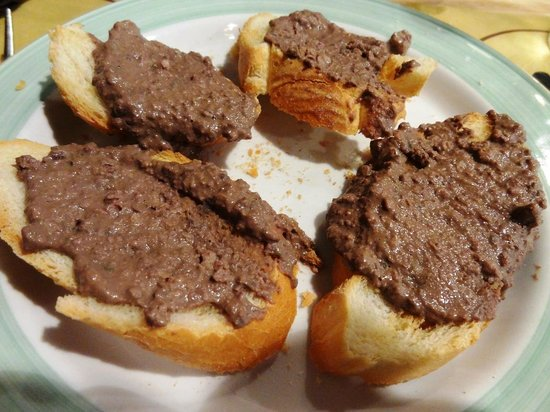 La Spada: Кростини с печенью