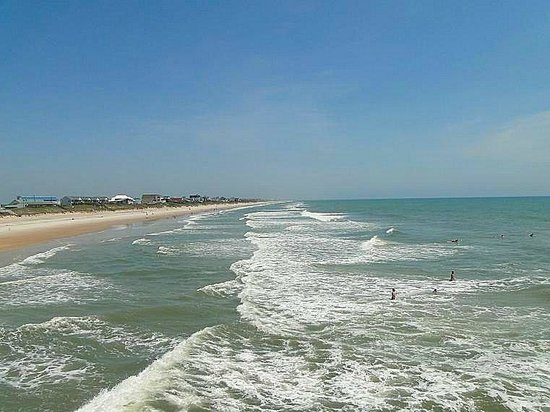 Surf City Pier: looking north from the pier