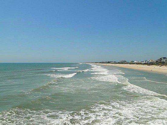 Surf City Pier: looking south from the pier