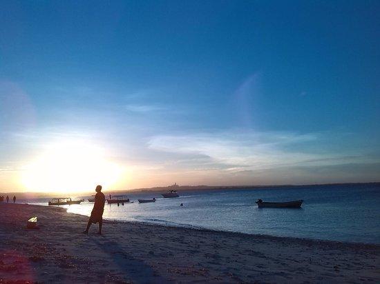 Mbudya island: beach on sunset