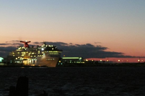 Port Canaveral, FL: At night before she sailed