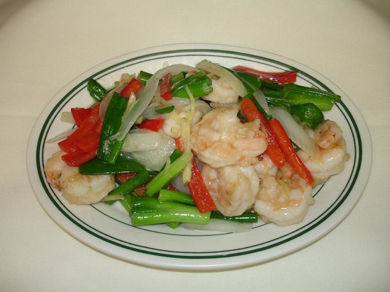 new china palace: ginger shrimp