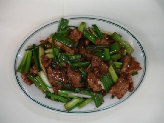 new china palace: mongolian beef
