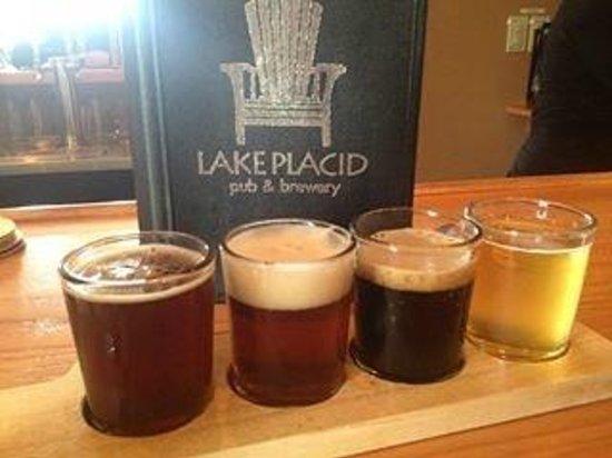 Lake Placid Pub & Brewery: tastings