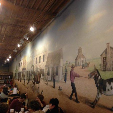 Java Ranch Espresso Bar & Cafe: The impressive wall paint