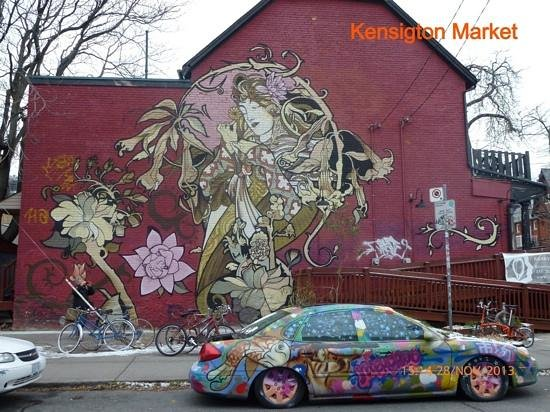 Kensington Market and Spadina Avenue: graffiti mural