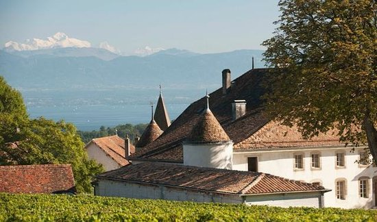 Chateau Le Rosey: Lake of Geneva and Mont Blanc