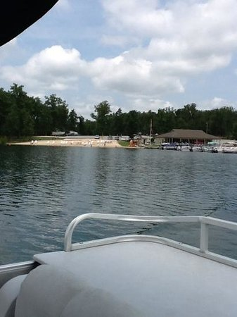 Wyndham Resort at Fairfield Glade: on the pontoon boat