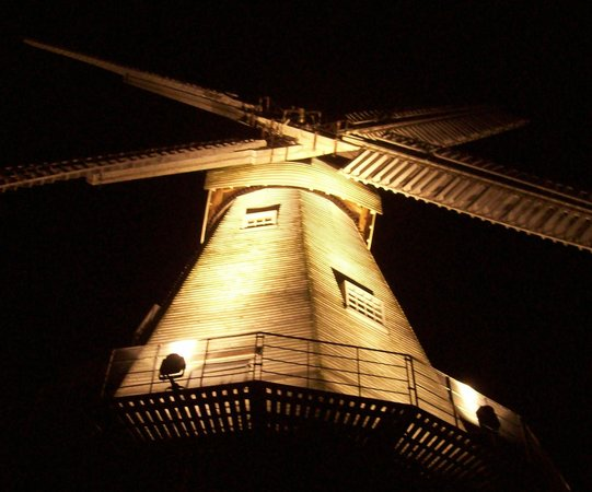 Union Mill: Windmill at Night - taken from its Base