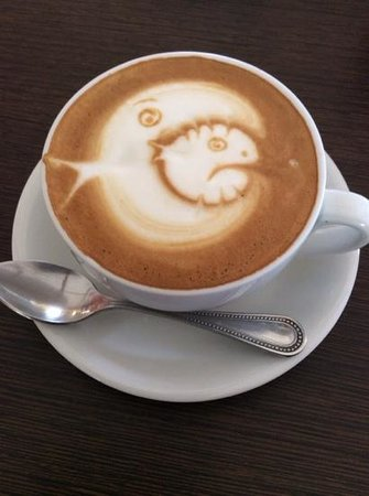 Choco Cafe Restaurant and Coffee Shop : Awesome place if you enjoy coffee art!