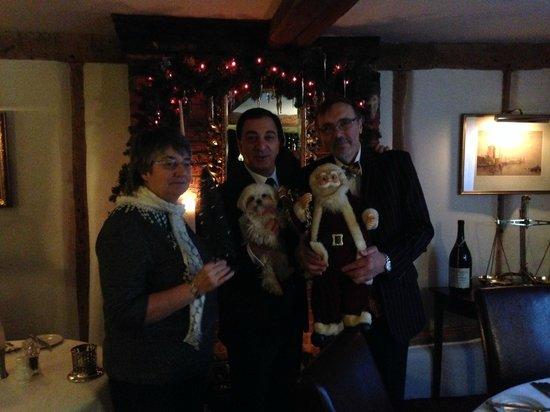 St Helena : Jane Raff & Donald Plus hound and Santa Claus