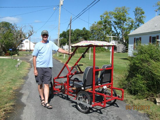 "Smith Island Inn: Their homemade ""island vehicle""!"