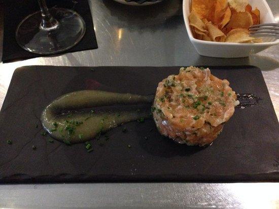 Mu Madrid : Amazing salmon tartar!