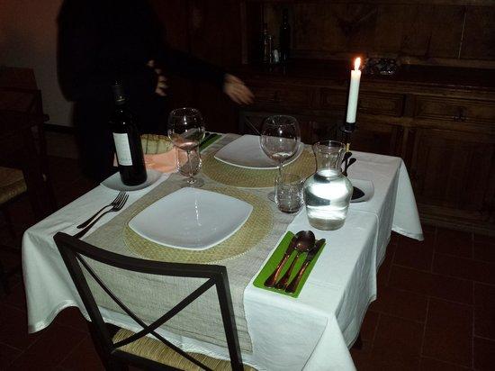 Agriturismo Casa Branca: cena a lume di candela