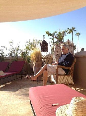 Dar Lalla F'dila : relaxation sur la terrasse