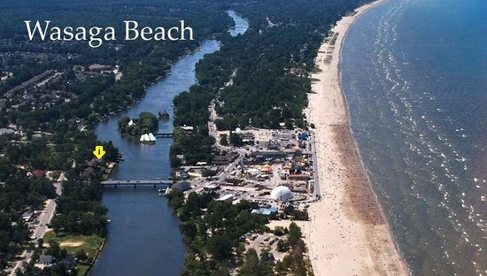 Wasaga River Resort Inc: just 4 min walk to main beach 1