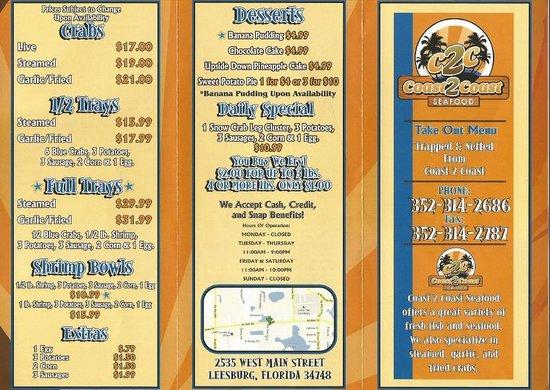 ลีส์บูร์ก, ฟลอริด้า: menu