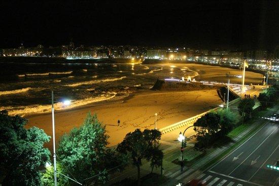 Hotel Riazor Coruna: Vista desde la habitación