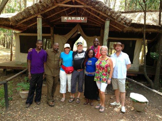 Basecamp Masai Mara: Noen av Basecamps kjempekoselig personale