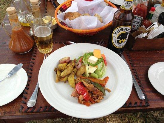 Basecamp Masai Mara: Alltid smakfull og delikat mat.