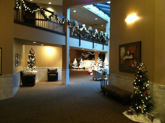 Quality Inn & Suites: Pretty Xmas Decor - Took our Xmas Pictures!