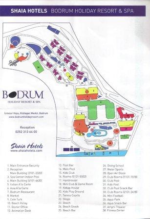 Bodrum Holiday Resort & Spa : Plan hotelu