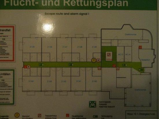 Hotel Vier Jahreszeiten Kuehlungsborn: Lageplan Zimmer Erdgeschoss Zimmer 144